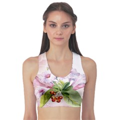 Wonderful Flowers, Soft Colors, Watercolor Sports Bra by FantasyWorld7
