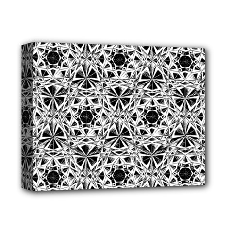 Star Crystal Black White 1 And 2 Deluxe Canvas 14  X 11  by Cveti