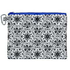 Star Crystal Black White 1 And 2 Canvas Cosmetic Bag (xxl)