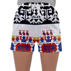 Bulgarian Folk Art Folk Art Sleepwear Shorts by Celenk