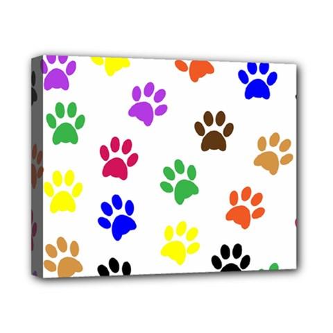 Pawprints Paw Prints Paw Animal Canvas 10  X 8  by Celenk