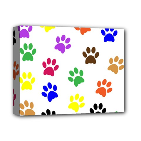 Pawprints Paw Prints Paw Animal Deluxe Canvas 14  X 11  by Celenk