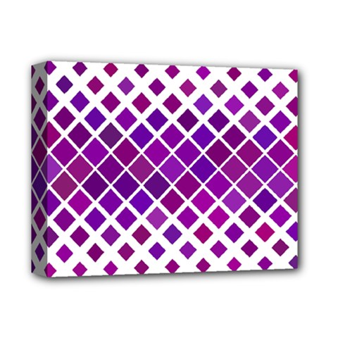 Pattern Square Purple Horizontal Deluxe Canvas 14  X 11  by Celenk