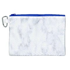 Marble Texture White Pattern Canvas Cosmetic Bag (xl) by Celenk