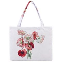 Flowers Poppies Poppy Vintage Mini Tote Bag by Celenk