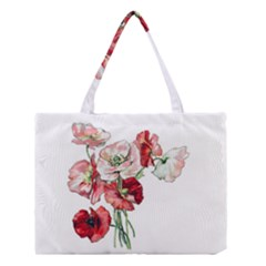 Flowers Poppies Poppy Vintage Medium Tote Bag by Celenk