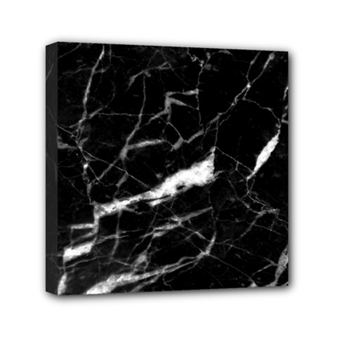 Black Texture Background Stone Mini Canvas 6  X 6  by Celenk