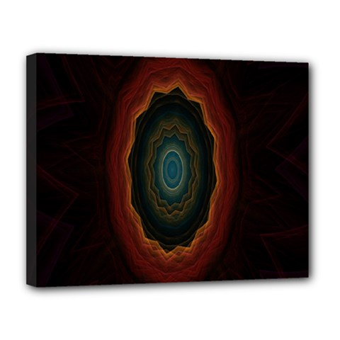 Cosmic Eye Kaleidoscope Art Pattern Canvas 14  X 11  by Celenk