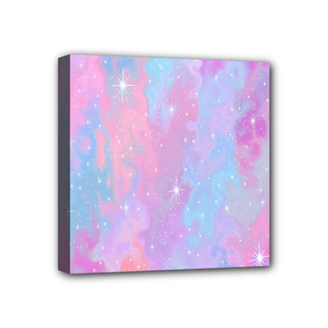 Space Psychedelic Colorful Color Mini Canvas 4  X 4  by Celenk