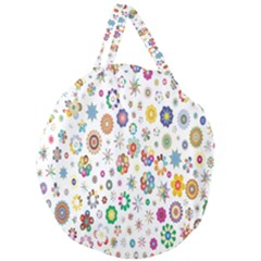 Design Aspect Ratio Abstract Giant Round Zipper Tote by Celenk
