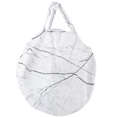 White Background Pattern Tile Giant Round Zipper Tote by Celenk