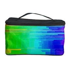 Colors Rainbow Chakras Style Cosmetic Storage Case by Celenk