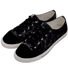 Black Texture Background Stone Men s Low Top Canvas Sneakers by Celenk