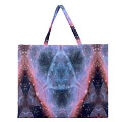 Sacred Geometry Mandelbrot Fractal Zipper Large Tote Bag by Celenk