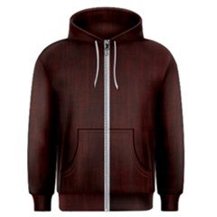 Grunge Brown Abstract Texture Men s Zipper Hoodie by Celenk