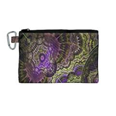 Abstract Fractal Art Design Canvas Cosmetic Bag (medium) by Celenk