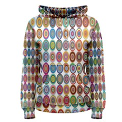 Decorative Ornamental Concentric Women s Pullover Hoodie