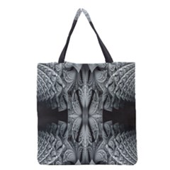Fractal Blue Lace Texture Pattern Grocery Tote Bag by Celenk