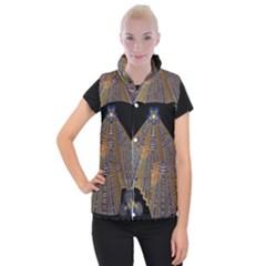 Deco Fan Women s Button Up Puffer Vest