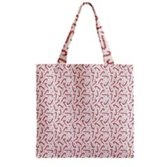Candy Cane Grocery Tote Bag by patternstudio