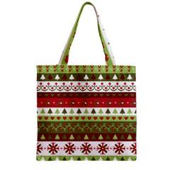 Christmas Spirit Pattern Grocery Tote Bag by patternstudio