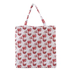 Ho Ho Ho Santaclaus Christmas Cheer Grocery Tote Bag by patternstudio