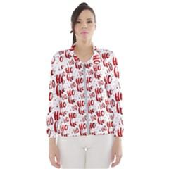 Ho Ho Ho Santaclaus Christmas Cheer Wind Breaker (women) by patternstudio
