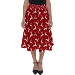 Red Reindeers Perfect Length Midi Skirt