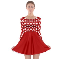 Cute Canada Long Sleeve Skater Dress