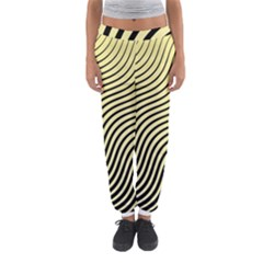 Black And Gold Waves Women s Jogger Sweatpants by SageExpress
