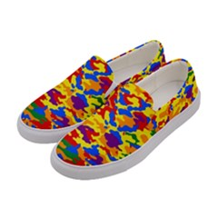 Homouflage Gay Stealth Camouflage Women s Canvas Slip Ons by PodArtist