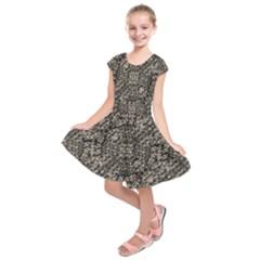 Animal Print Camo Pattern Kids  Short Sleeve Dress by dflcprints