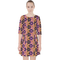 Flower Of Life Purple Gold Pocket Dress by Cveti
