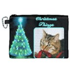 Christmas Things 3 Canvas Cosmetic Bag (XL)