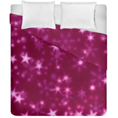 Blurry Stars Pink Duvet Cover Double Side (california King Size) by MoreColorsinLife