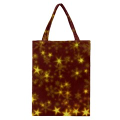 Blurry Stars Golden Classic Tote Bag by MoreColorsinLife