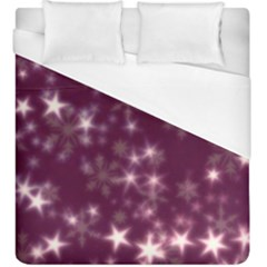 Blurry Stars Plum Duvet Cover (king Size) by MoreColorsinLife