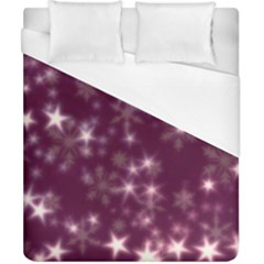 Blurry Stars Plum Duvet Cover (california King Size) by MoreColorsinLife