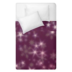 Blurry Stars Plum Duvet Cover Double Side (single Size) by MoreColorsinLife