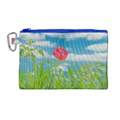 Beauty Nature Scene Photo Canvas Cosmetic Bag (large) by dflcprints