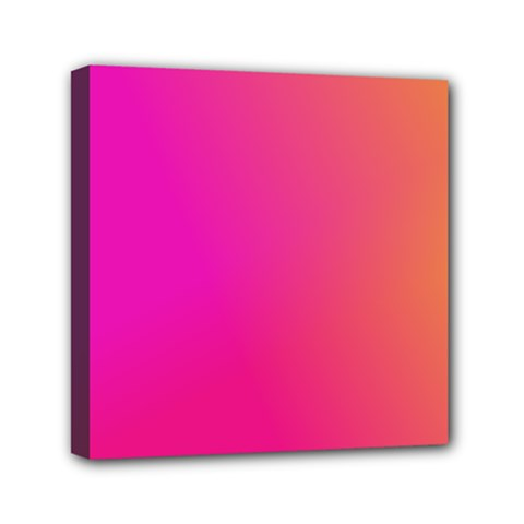 Pink Orange Yellow Ombre  Mini Canvas 6  X 6  by SimplyColor