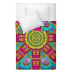 Sunny And Bohemian Sun Shines In Colors Duvet Cover Double Side (single Size) by pepitasart