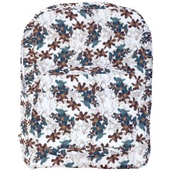 Pear Blossom Teal Orange Brown  Full Print Backpack by ssmccurdydesigns