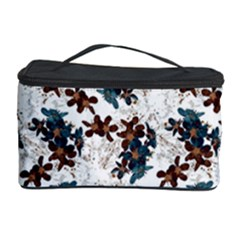 Pear Blossom Teal Orange Brown  Cosmetic Storage Case by ssmccurdydesigns