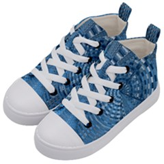 Gateway To Thelight Pattern 5 Kid s Mid Top Canvas Sneakers by Cveti