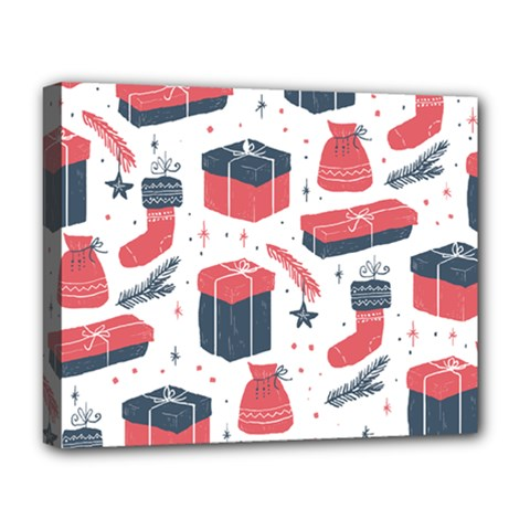Christmas Gift Sketch Deluxe Canvas 20  X 16   by patternstudio