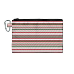 Christmas Stripes Pattern Canvas Cosmetic Bag (medium) by patternstudio