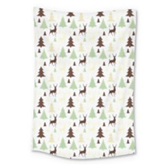 Reindeer Tree Forest Large Tapestry