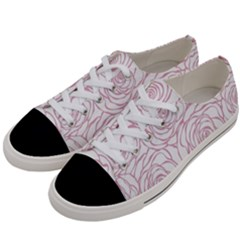 Pink Peonies Women s Low Top Canvas Sneakers by 8fugoso