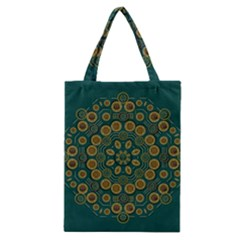 Snow Flower In A Calm Place Of Eternity And Peace Classic Tote Bag by pepitasart